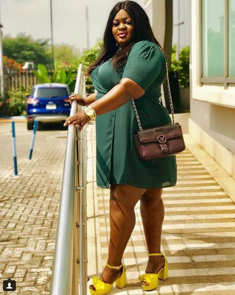 actress eniola badmus looking super chic in wrap dress - 'I Came To London To Sleep' – Nollywood Actress, Eniola Badmus, Says As She Share Beautiful Pictures (Pictures)