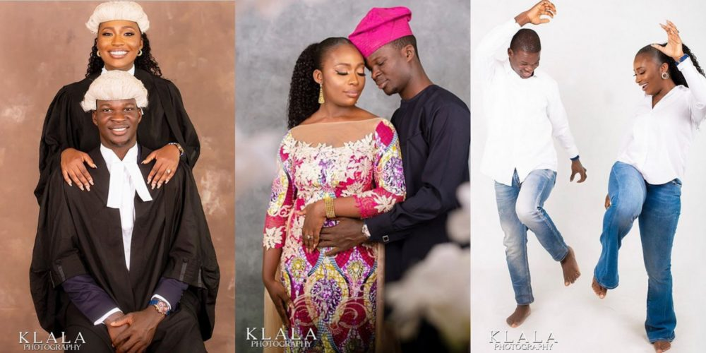 Beautiful Pre-wedding photos of young legal practitioners melt hearts online