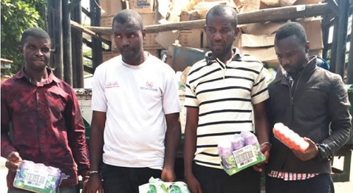 Faces Of Four Arrested For Producing Adulterated Disinfectant In Lagos (Photo)