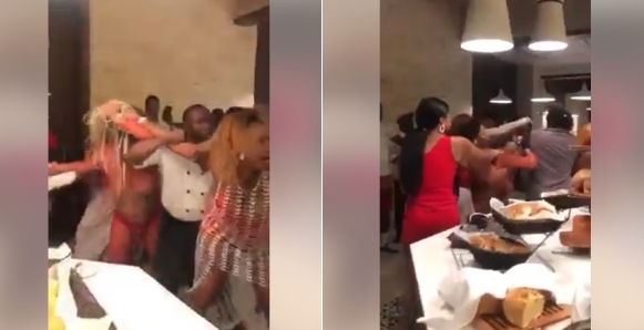 Slay Queens Break Into Fight Over Food At A Public Event (Video)