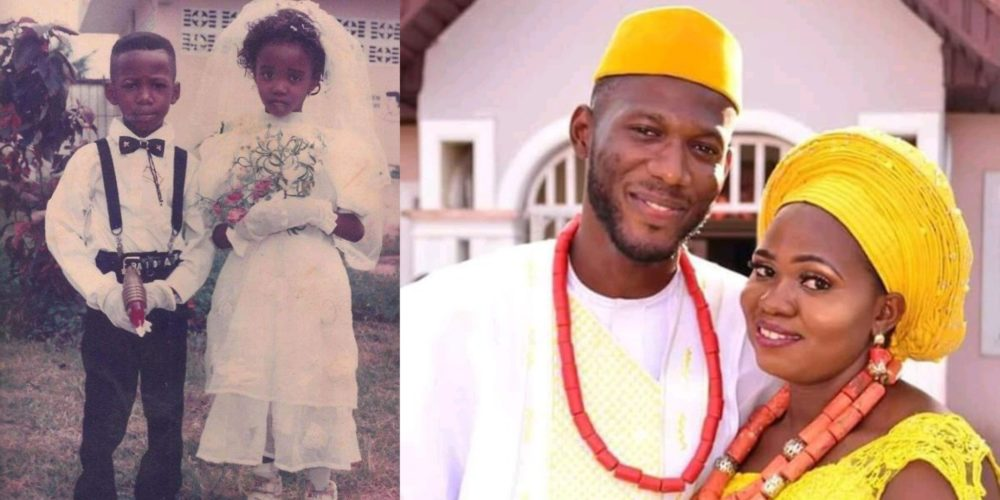 Adorable photos of a Nigerian couple who met as kids at a wedding