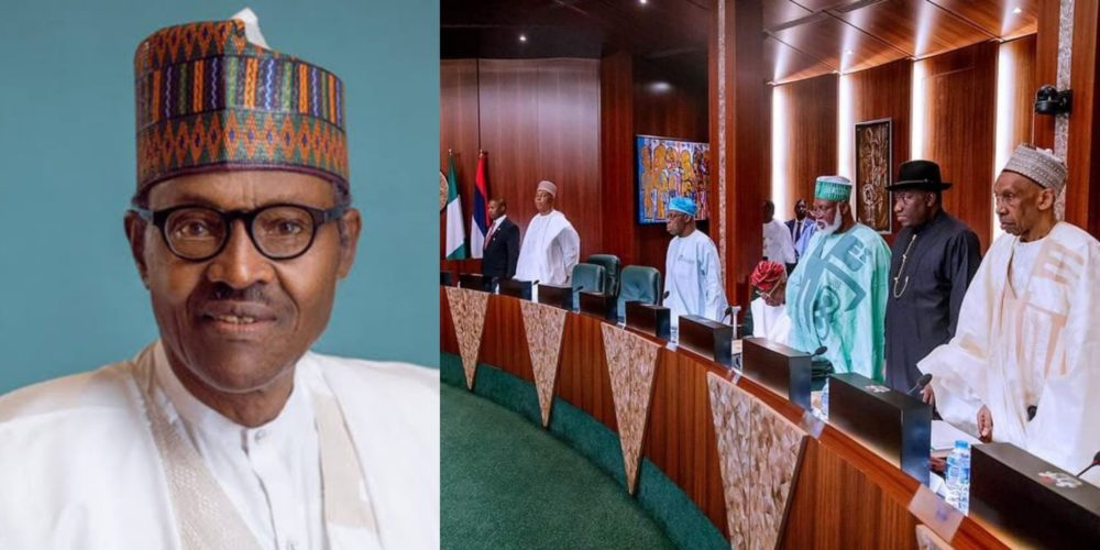 federal government approves n27000 as new national minimum wage federal workers to also get n30000 - National council of state: Here's what Nigerians are saying about Buhari and Obasanjo's handshake
