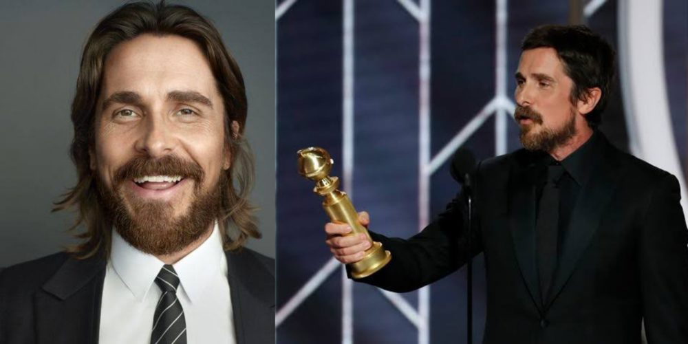Moment popular Actor, Christian Bale thanked satan at 2019 Golden Globes (Video)