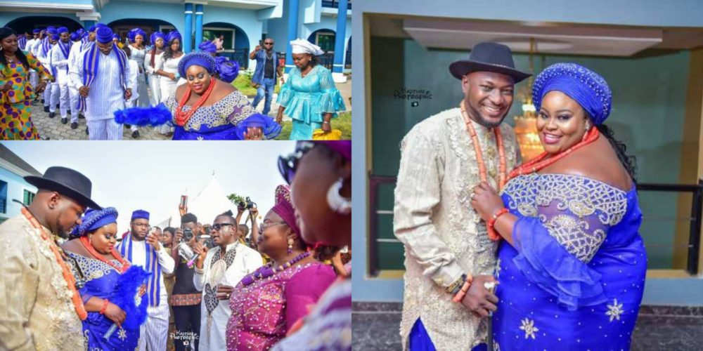 Nigerian couple melt hearts with their wedding pictures