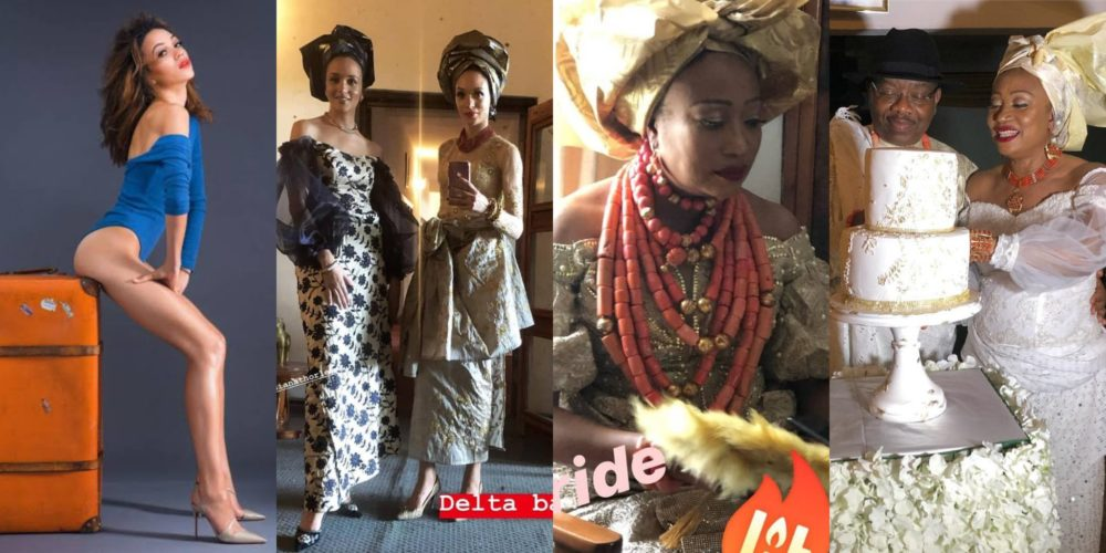 Image result for Actress, Eku Edewor's mum remarries, see photos from the traditional wedding.