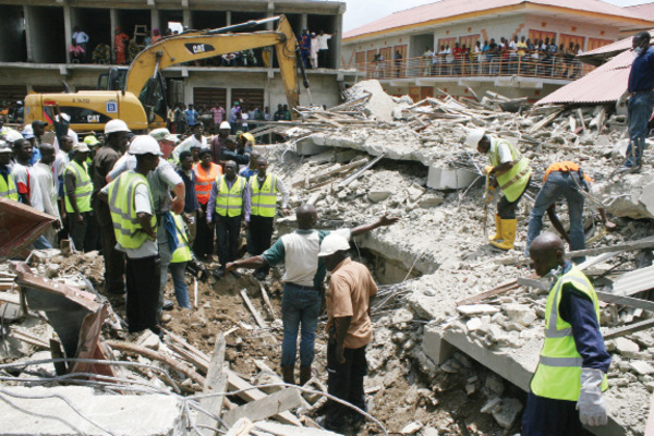 Building Under Construction Collapses in Oshodi