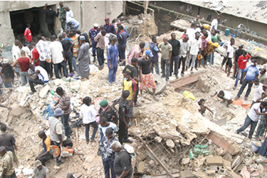Six-year-old boy pulled out of collapsed Lagos building alive