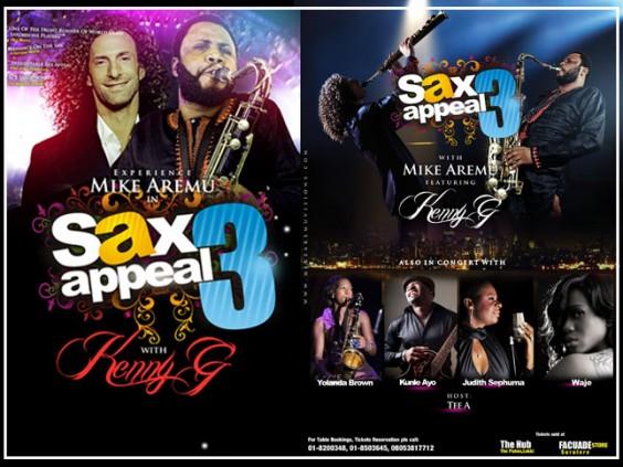 Kenny G, Aremu, Waje rock Lagos @ Sax Appeal
