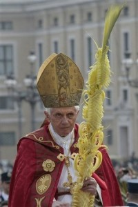 Pope Benedict XVI celebrates Palm Sunday