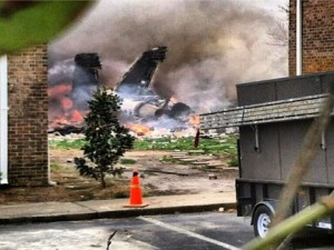 US Navy Fighter Jet crashes in residential area
