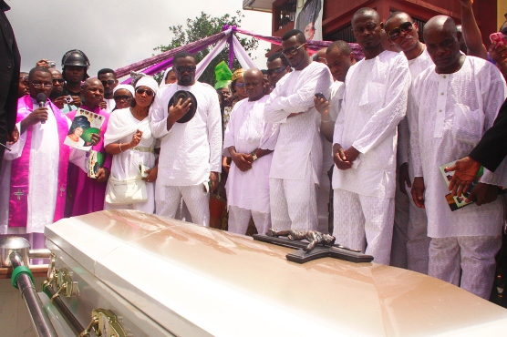 Photos From The Burial Of P Square Mum As They Carried