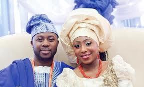 Dakore Egbuson-Akande and her husband, Olumide Akande