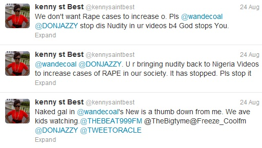 """You Are Bringing N*dity Back To Nigeria Videos""- Kenny Saint-Best To Wande Coal And Don Jazzy"