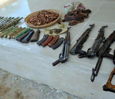 PHOTO: Huge Array Of Weapons Discovered From House To House Search In Borno