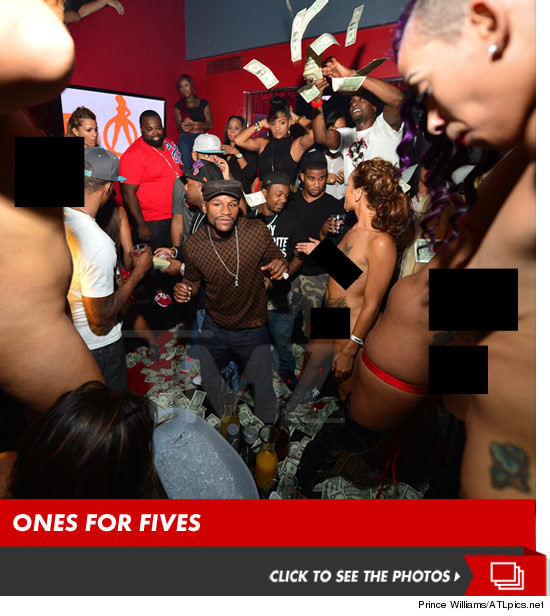 Floyd Mayweather Jr. And Ray J Blow Over $50,000 In Club As They Make It Rain
