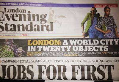 London Evening Standard Features Dbanj On Its Front Page