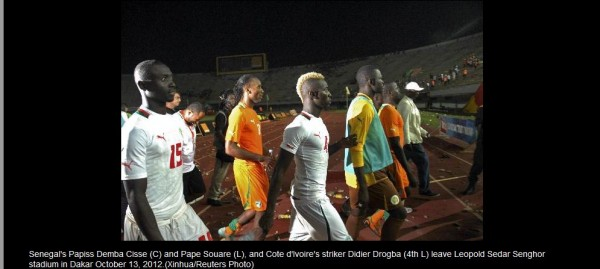Photos: Senegal Vs Ivory Coast Match Abandoned Over Fans Riot After Didier Drogba Double