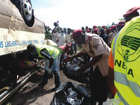 Drowned Bus: NEMA Recovers Remaining 5 Bodies Of Drowned Passengers