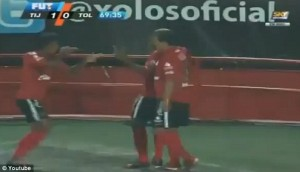 Ecuadorian Footballer Sees Red After Pretending To 'Shoot' Teammate In Goal Celebration