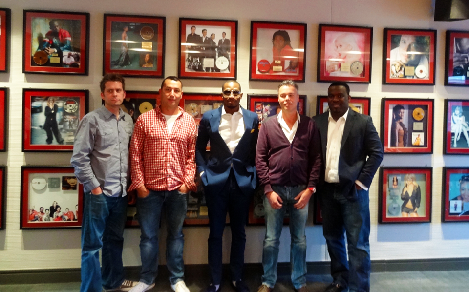 Dbanj With Sony Music Africa Representatives