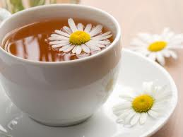 A cup of chamomile tea