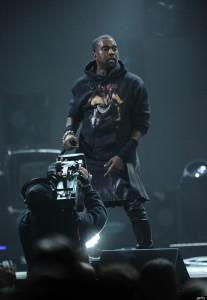 Skirt on meggings for Kanye