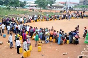 Long Queues For Kerosene At A Filling Station