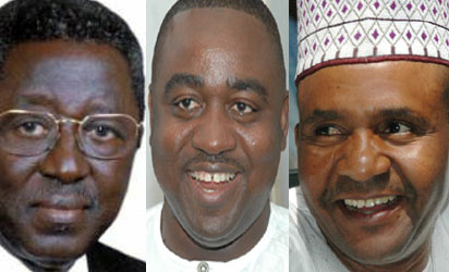The three surviving Christian governors (although alive, Suntai is temporarily out of office after surviving a plane crash)