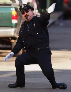 Tony cop dancing