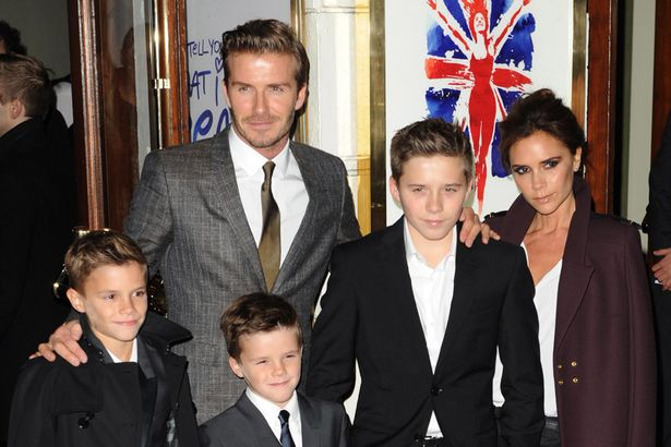 Victoria+Beckham,+David+Beckham+and+family+arriving+at+the+World+Premiere+of+Viva+Forever
