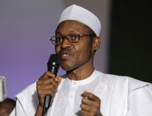 Muhammadu Buhari, a former presidential candidate from the opposition party, speaks at a forum on electoral reforms in Nigeria's capital territory Abuja