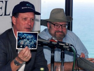 Robert Ballard showing a picture of his evidence