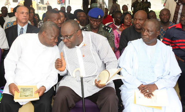 At The Burial Ceremony In Bayelsa: Oronto Douglas (L), Seriake Dickson & Patrick Yakowa