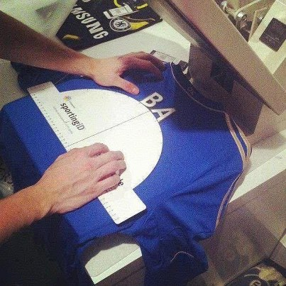 DEMBA BA'S CHELSEA JERSEY IMPRINTED WITH HIS SQUAD NUMBER AND NAME