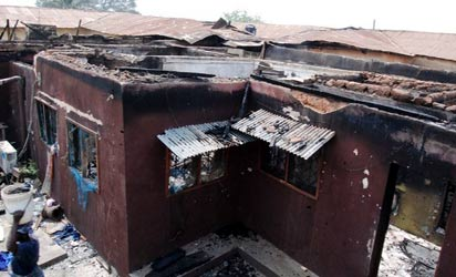 ROOMS IN ALAAFIN'S PALACE  AFFECTED BY THE FIRE