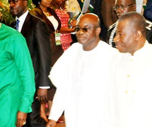 JONATHAN, MARK, ORITSEJAFOR AT THE INTERDENOMINATIONAL CHURCH SERVICE MARKING THE 2013 ARMED FORCES REMEMBRANCE DAY IN ABUJA