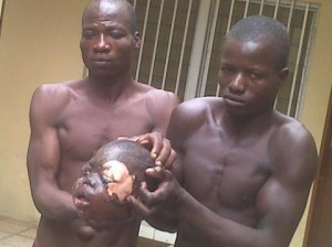 File: Arrested ritualist with victim's head