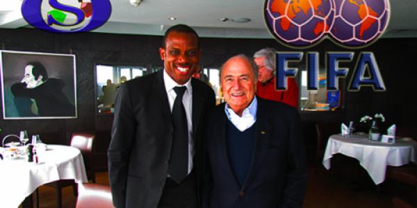SUNDAY OLISEH & FIFA PRESIDENT, SEPP BLATTER