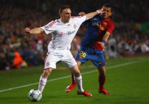 Frank Ribery vs. Dany Alves.