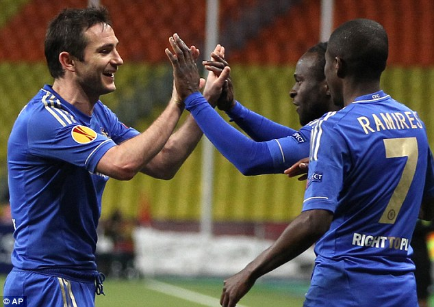 Victor Moses and Frank Lampard.