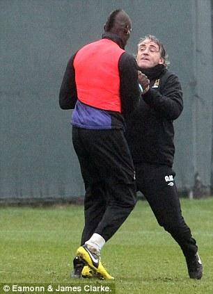 Balotelli and Mancini.