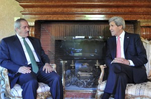 John Kerry, right, with Nasser Judeh, foreign minister of Jordan