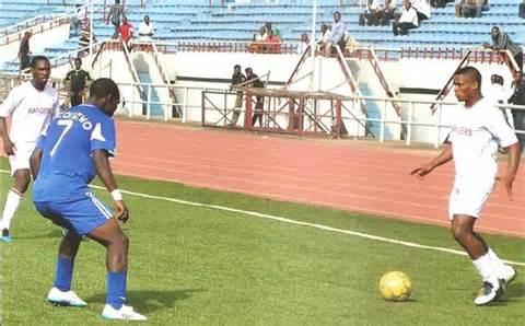 Footballers at the NUGA Games.