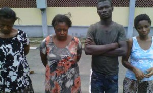 The suspects paraded in Lagos