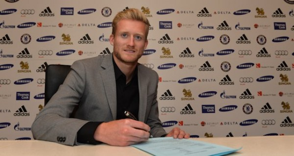 Andre Schurrle Completes His Signing at Stamford Bridge.