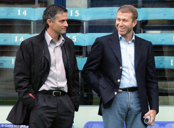 Mourinho and Chelsea FC Owner Abramovich.