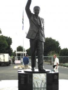 Nelson Mandela Statue in Victor Verster Prison