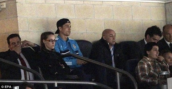 Cristiano Ronaldo Watches From the Stand.