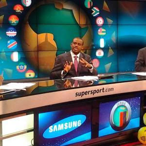 Sunday Oliseh in Supersport Studio.