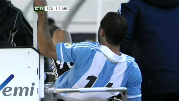 Javier Mascherano Kicks a Medical Staff.